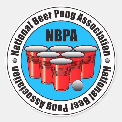 Cerveja Pong Adesivo Em Formato Redondo