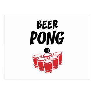 Cerveja Pong Cartão Postal