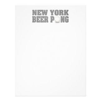 Cerveja Pong de New York Modelo De Panfleto