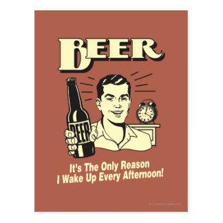 Cerveja: Somente razão eu acordo a tarde Cartão Postal