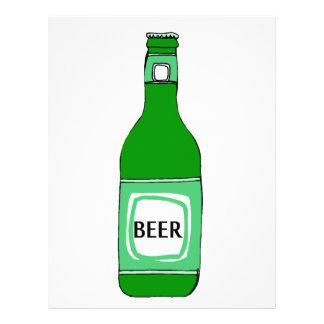 Cerveja verde panfleto coloridos
