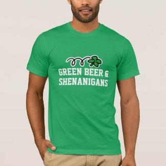 Cerveja verde & shenanigans da camisa | do Dia de