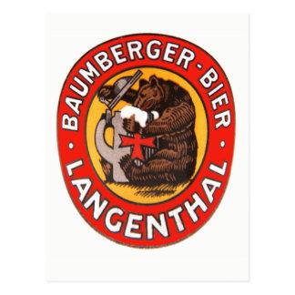 Cervejaria Baumberger Langenthal cartão postal