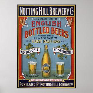 Cervejaria Co de Notting Hill, 1899 Pôster