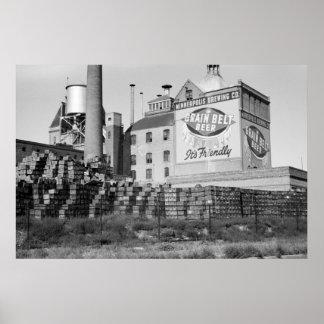 Cervejaria de Minneapolis os anos 30 Pôsteres