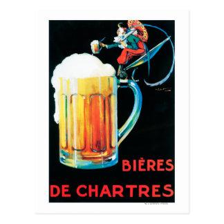 Cervejas do poster do promocional de Chartres Cartão Postal