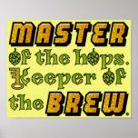 Cervejeiro da cerveja da fermentação home posteres