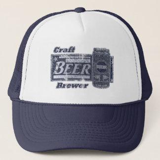 Cervejeiro da cerveja do artesanato - o azul & o boné