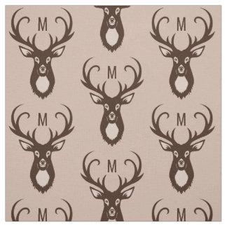 Cervos com seu tecido do costume do monograma