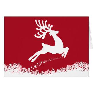 Cervos de salto com SEU cartão das FOTOS & do