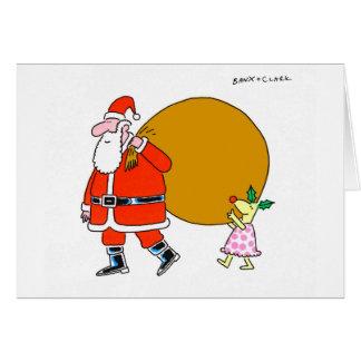 Cervos do azevinho com o cartão do Xmas do papai