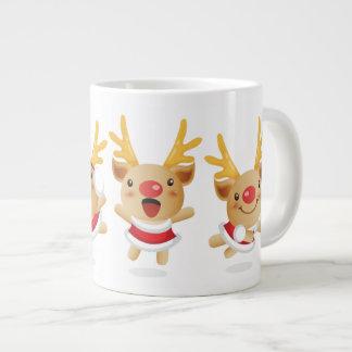 Cervos do Natal do porco do ano novo Caneca De Café Grande