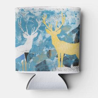 Cervos do Natal. Refrigerador Porta-lata