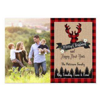 Cervos dos cartões de foto de Natal e xadrez do