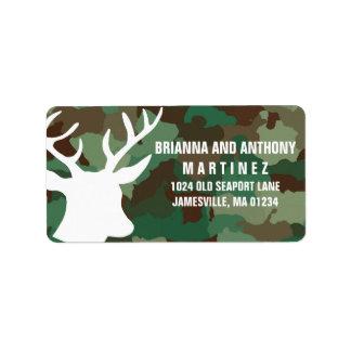 Cervos & etiquetas de endereço do remetente