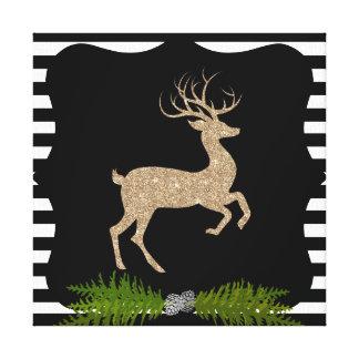 Cervos modernos do feriado impressão em canvas