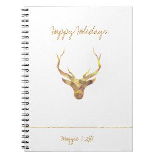 Cervos modernos do ouro, feriado cadernos
