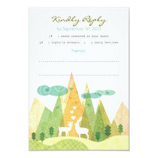 Cervos no cartão rústico do vale RSVP da montanha Convite 8.89 X 12.7cm