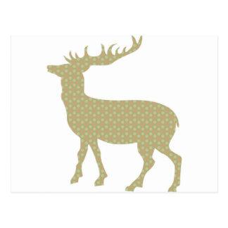 Cervos pastel bonitos cartão postal