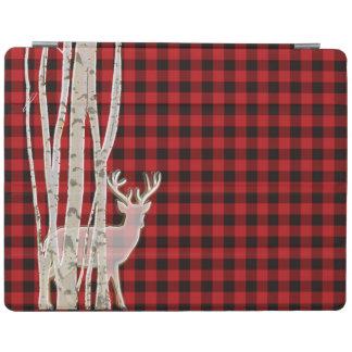 Cervos rústicos da xadrez do búfalo e cobrir capa smart para iPad