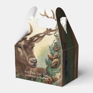 Cervos rústicos personalizados do VEADO da caixa