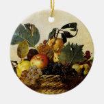 Cesta com fruta, Caravaggio Ornamento