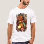Cesta das frutas e legumes no lugar camisetas