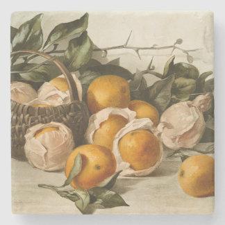 Cesta das laranjas porta copos de pedra