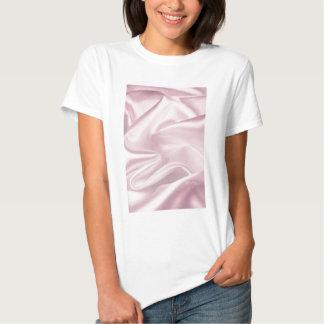 Cetim cor-de-rosa camisetas