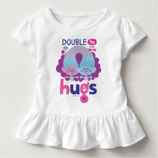 Cetim dos troll   & Chenille - os os abraços dobro Camiseta Infantil