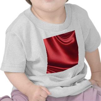 Cetim vermelho bonito camiseta