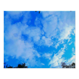 """Céu azul 20"""" x 16"""", papel de poster do valor"""