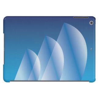 Céu azul translúcido da Tri Vela Capa Para iPad Air