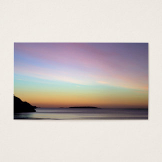 Céu da manhã na praia do canto cartão de visitas