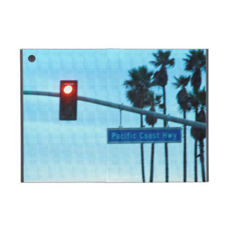 Céu da praia de Califórnia do sinal da estrada 1 d Capas iPad Mini
