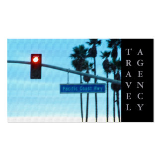 Céu da praia de Califórnia do sinal da estrada 1 d Cartão De Visita