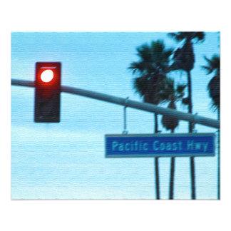 Céu da praia de Califórnia do sinal da estrada da  Flyer 11.43 X 14.22cm