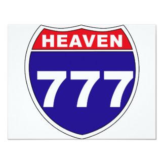 """Céu """"de um estado a outro"""" 777 convite 10.79 x 13.97cm"""