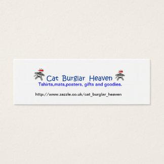 Céu do assaltante de gato cartão de visitas mini