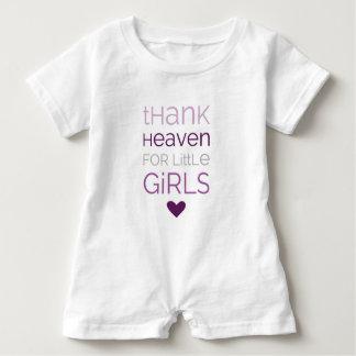 Céu do obrigado para as meninas 02 macacão para bebê