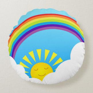 Céu do verão almofada redonda