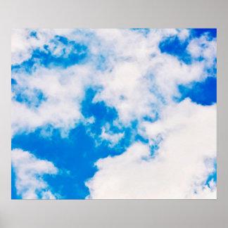 Céu e poster das nuvens