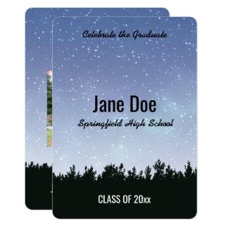 Céu estrelado convite personalizado da graduação