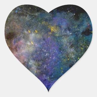 Céu estrelado - orion ou cosmos da Via Láctea Adesivo Coração