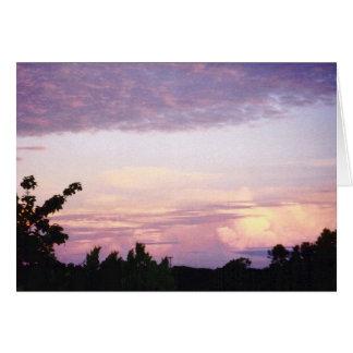 Céu grande de Texas Cartão