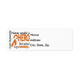 Céu necessário uma leucemia do primo do herói etiqueta endereço de retorno