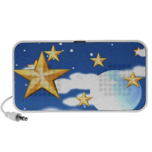 Céu nocturno caixinha de som para iPod