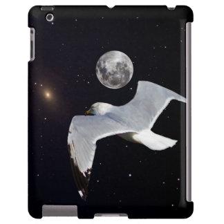 Céu nocturno com pássaro de vôo capa para iPad