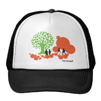 Céu para nosso chapéu das crianças bones