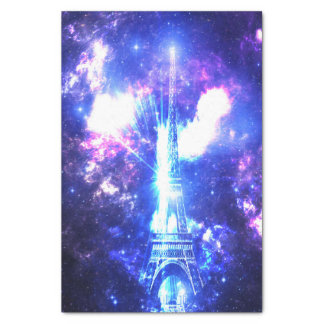 Céu parisiense iridescente papel de seda